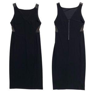 Alice + Olivia Sleeveless Lamb Leather Maxi Dress